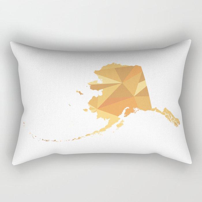 Alaska Pattern Map Art Rectangular Pillow