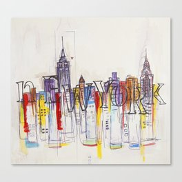 Abstract New York Canvas Print