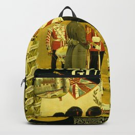 Vintage British Poster Backpack