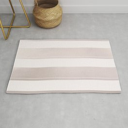 Rose Gold and Wide Pink Stripes Mix Pattern Rug