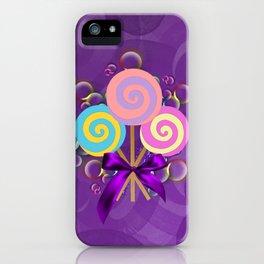 Purple Lollypop Dreams iPhone Case