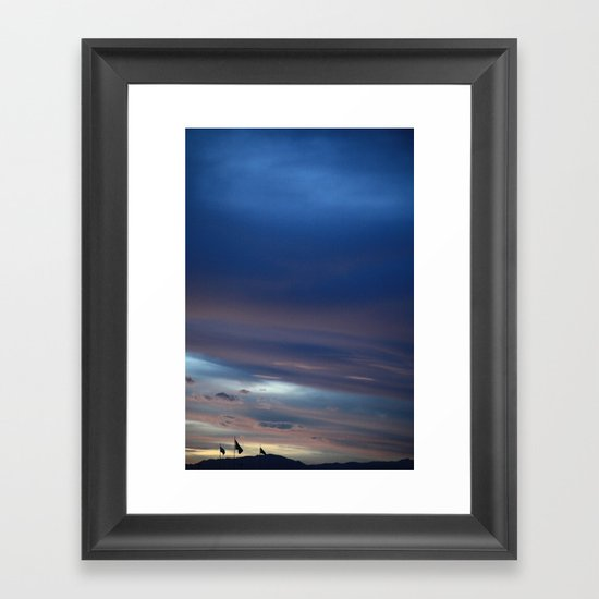 Flag Landscape Framed Art Print
