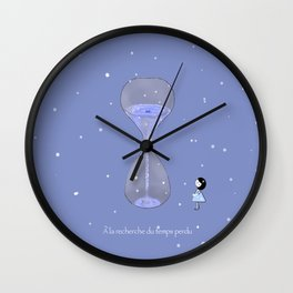 Bluey in search of lost time Wall Clock