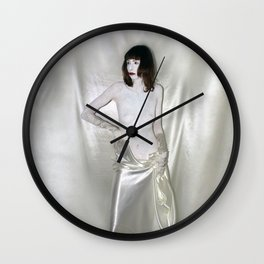 "say no to patriarchy / ""the prostitute"" Wall Clock"