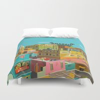 hemingway Duvet Covers featuring Habana by Zsolt Vidak