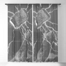 THOR'S HAMMER Sheer Curtain