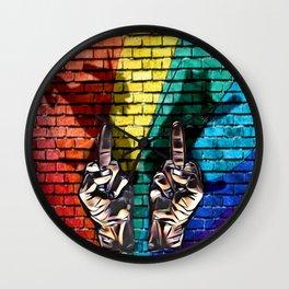 EFF cats rainbows and unicorns Wall Clock