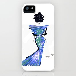 Fashion model in blue on the red carpet iPhone Case
