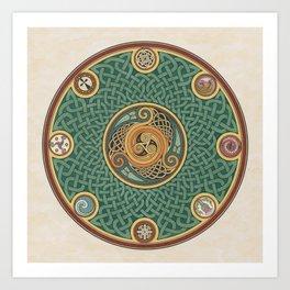 Celtic Knotwork Shield Art Print