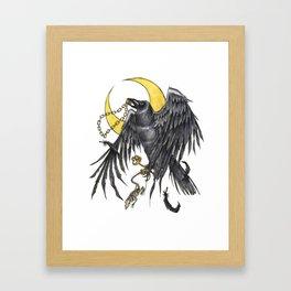 Raven Moon Framed Art Print