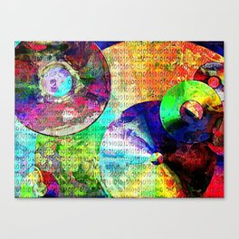 Binary Data Abstract Canvas Print