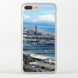 Barcelona Harbour Clear iPhone Case