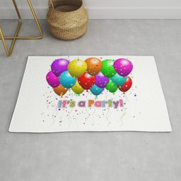 It's A Party Colorful Balloons Rug