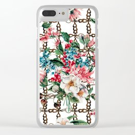 Flowers and Chains Clear iPhone Case