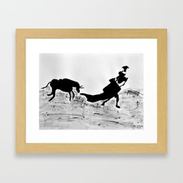 Bulls and bullfighters of Picasso III Framed Art Print