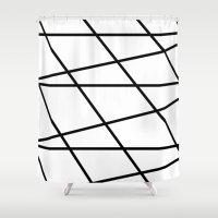darren criss Shower Curtains featuring Criss-Cross by Vikki Skye