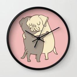 Labrador retriever Hugs Wall Clock