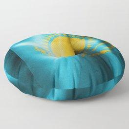 Kazakhstan Flag Floor Pillow
