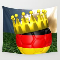 world cup Wall Tapestries featuring World Cup Champion 2014 by Littlebell
