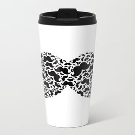 Mustacheception Metal Travel Mug