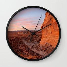 Desert Vistas at Sunset Wall Clock