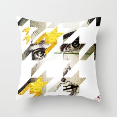 Maze Hound Throw Pillow