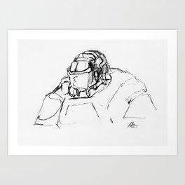 Warbot Sketch #034 Art Print