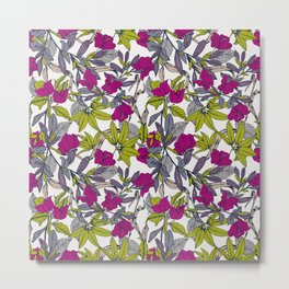 Pattern with bougainvillea flowers Metal Print