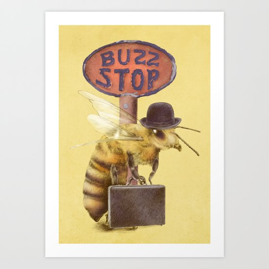 Worker Bee (colour option) Art Print