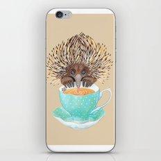 Echidna Drinking Tea iPhone & iPod Skin