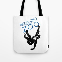 Who's Who In The Zoo -- Vintage WPA Tote Bag