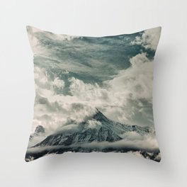 Cloud Mountain in the Canadian Wilderness Throw Pillow