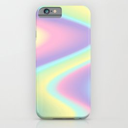 Holographic Abstract Rainbow Gradient #7 iPhone Case