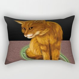 Witch cat Rectangular Pillow
