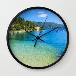 Kefalonia Island beach summer Ionian Sea Greece tourism Ionian Islands Wall Clock