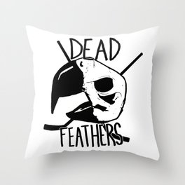DEAD FEATHERS CREST Throw Pillow