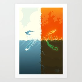 The Four Art Print