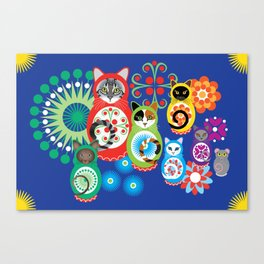 матрешка кошки - Catryoshka Canvas Print