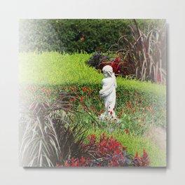 Dreamy Cupid's Garden Metal Print