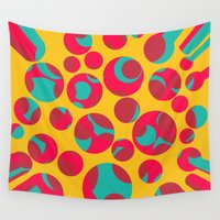 cheese Wall Tapestries featuring Psychedelic cheese by Gaspar Avila