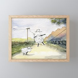 Slackline Framed Mini Art Print