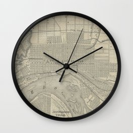 Vintage Map of Louisville KY (1870) Wall Clock