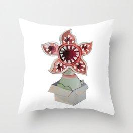 Strange demodog Throw Pillow