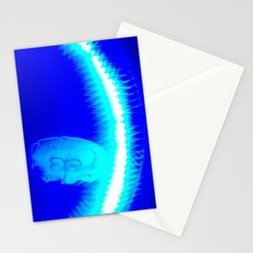 glowing jellyfishes Stationery Cards