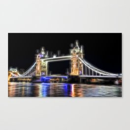 Tower Bridge Abstract Canvas Print