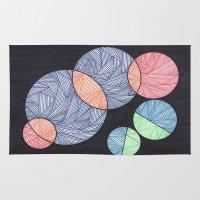 dot Area & Throw Rugs featuring Dot Dot Dot by Sarah J Bierman