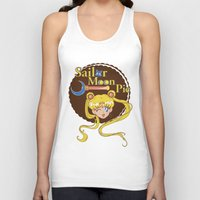 pie Tank Tops featuring Moon Pie by Ashley Hay