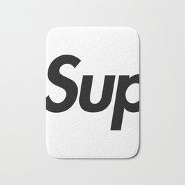 Supreme Black Letters Bath Mat