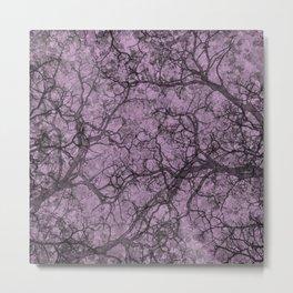 Lilac Purple Hunting Camo Pattern Metal Print