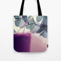 clover Tote Bags featuring clover by Ingrid Beddoes